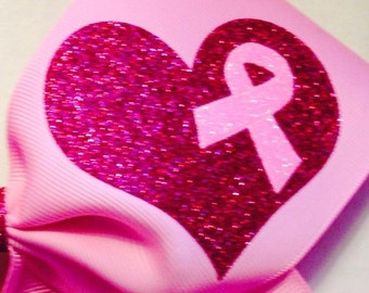 HEART DECAL ONLY Breast cancer awareness