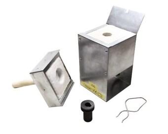 Gold & Silver Metal Melting Kiln R9-4 1120C (2048F) + 4 Oz Graphite Crucible + 1-4Oz Metal Tongs