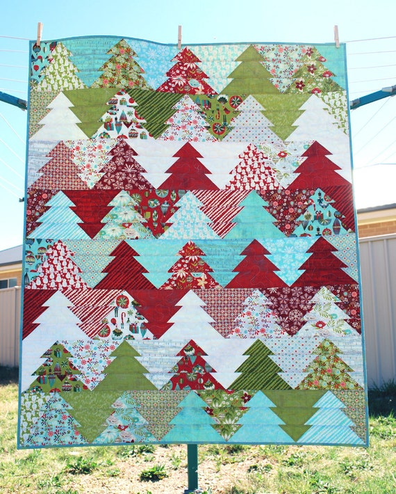 Zigzag Christmas Tree Quilt Pattern Pdf Wander Etsy