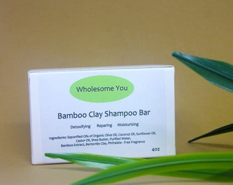 Bamboo Clay Shampoo Bar