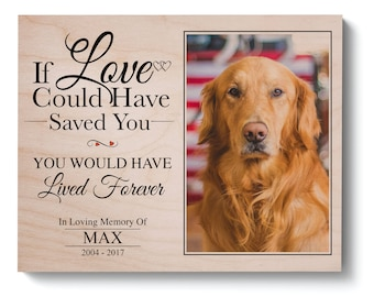Pet Memorial Frame Pet Loss Gifts Dog Sympathy Pet Memorial Etsy