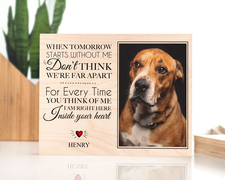 Loss Of Pet >> Pet Memorial Frame Dog Memorial Gift Loss Of Dog Pet Loss Pet Memorial Plaque Pet Sympathy Gift Pet Memorial Gifts When Tomorrow Starts