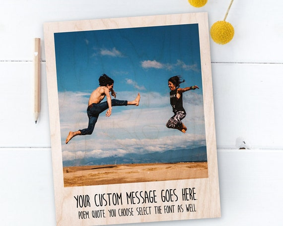 personalized picture frame photo on wood picture frames etsy