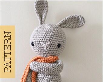 Crochet Amigurumi Cute Bunny PATTERN ONLY, Crochet Stuffed Animal, pdf Bunny Rabbit Pattern