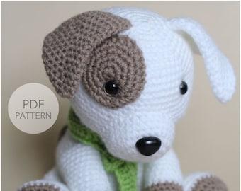 Crochet Amigurumi Puppy Dog PATTERN ONLY, Jack Pup, pdf Stuffed Animal Toy Pattern, English Only