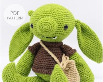 Crochet Amigurumi Fantasy Goblin PATTERN ONLY, Pinch, pdf Stuffed Toy Pattern, English Only