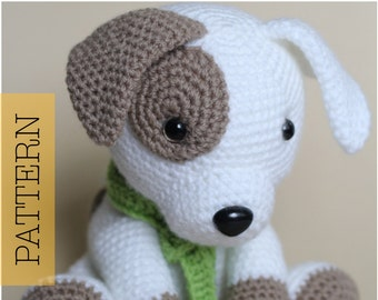 Crochet Amigurumi Puppy Dog PATTERN ONLY, Jack Pup, pdf Stuffed Animal Toy Pattern