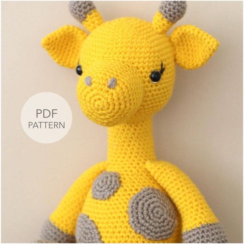 Crochet Amigurumi Giraffe PATTERN ONLY Graceful Gemma image 0