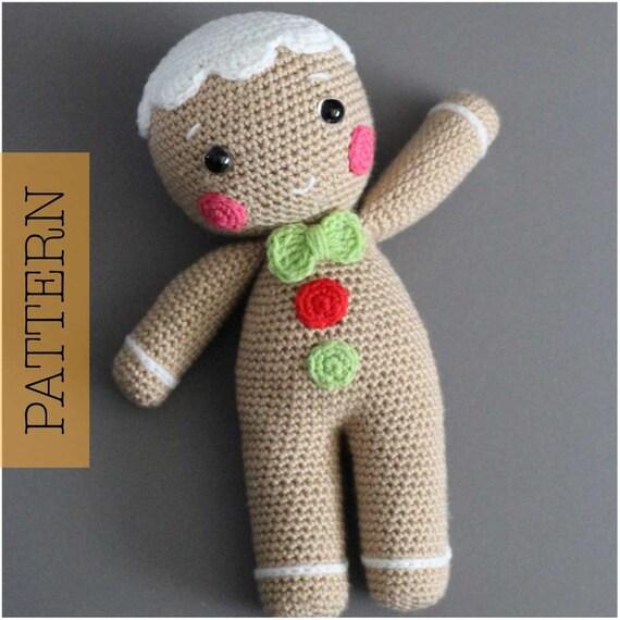 Crochet Amigurumi Gingerbread Man Pattern Only Christmas Etsy