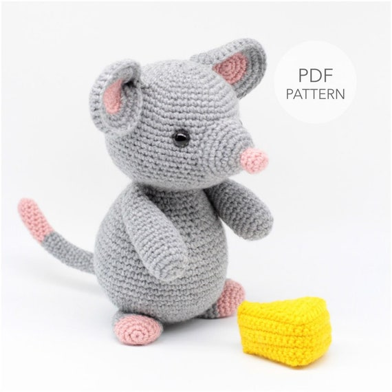 Crochet cat and mouse pattern | Amiguroom Toys | 570x570
