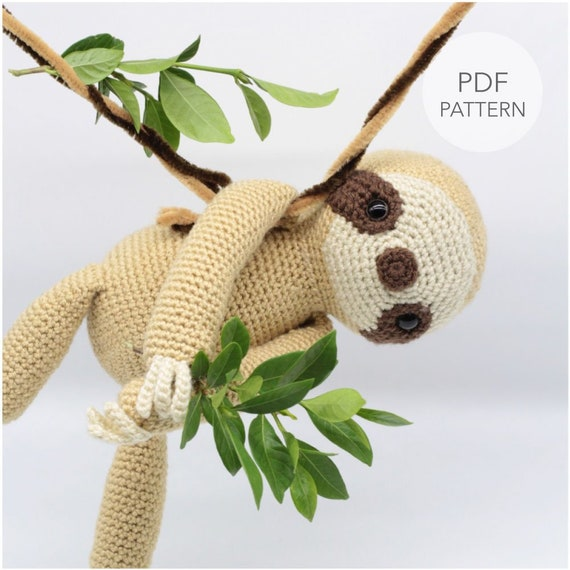 Amigurumi Sloth Free Crochet Pattern | móhu | 570x570