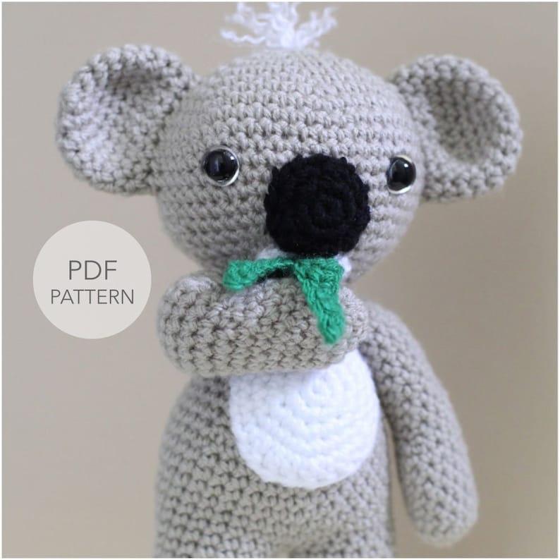 Crochet Amigurumi Koala PATTERN ONLY KC Koala Cute Amigurumi image 0