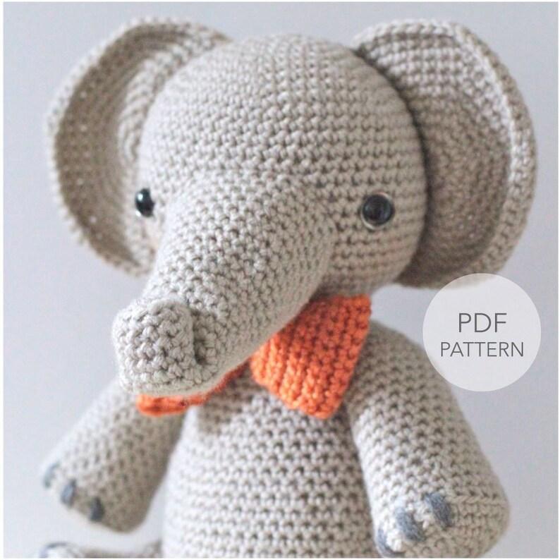 Crochet Amigurumi Elephant PATTERN ONLY Professor Elbert pdf image 0