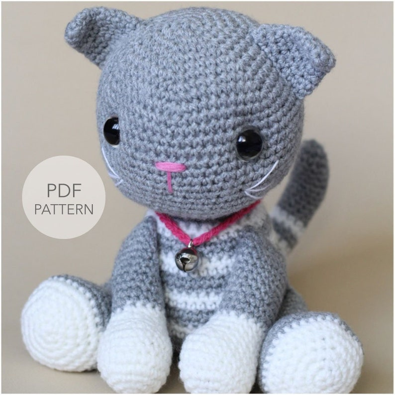 Crochet Amigurumi Cat Pattern Only Abby Tabby Pdf Stuffed Etsy
