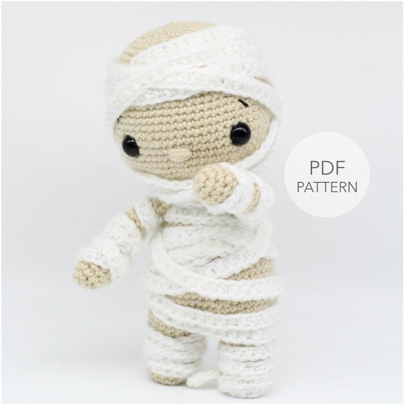 Crochet Amigurumi Mummy PATTERN ONLY Tommy pdf Stuffed image 0