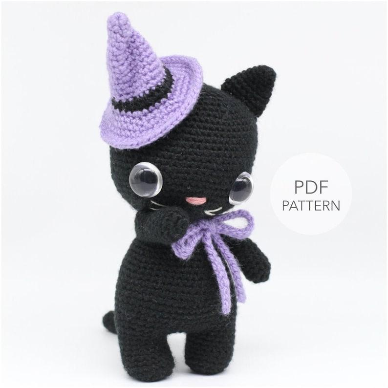 Crochet Amigurumi Cat PATTERN ONLY Luna Kitty pdf Stuffed image 0