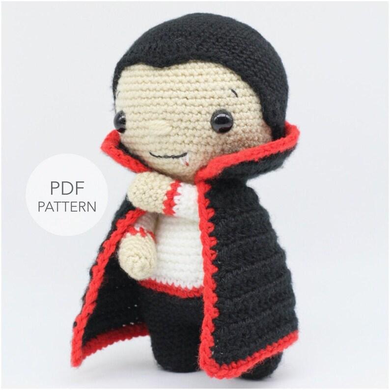Crochet Amigurumi Dracula Vampire PATTERN ONLY Little image 0