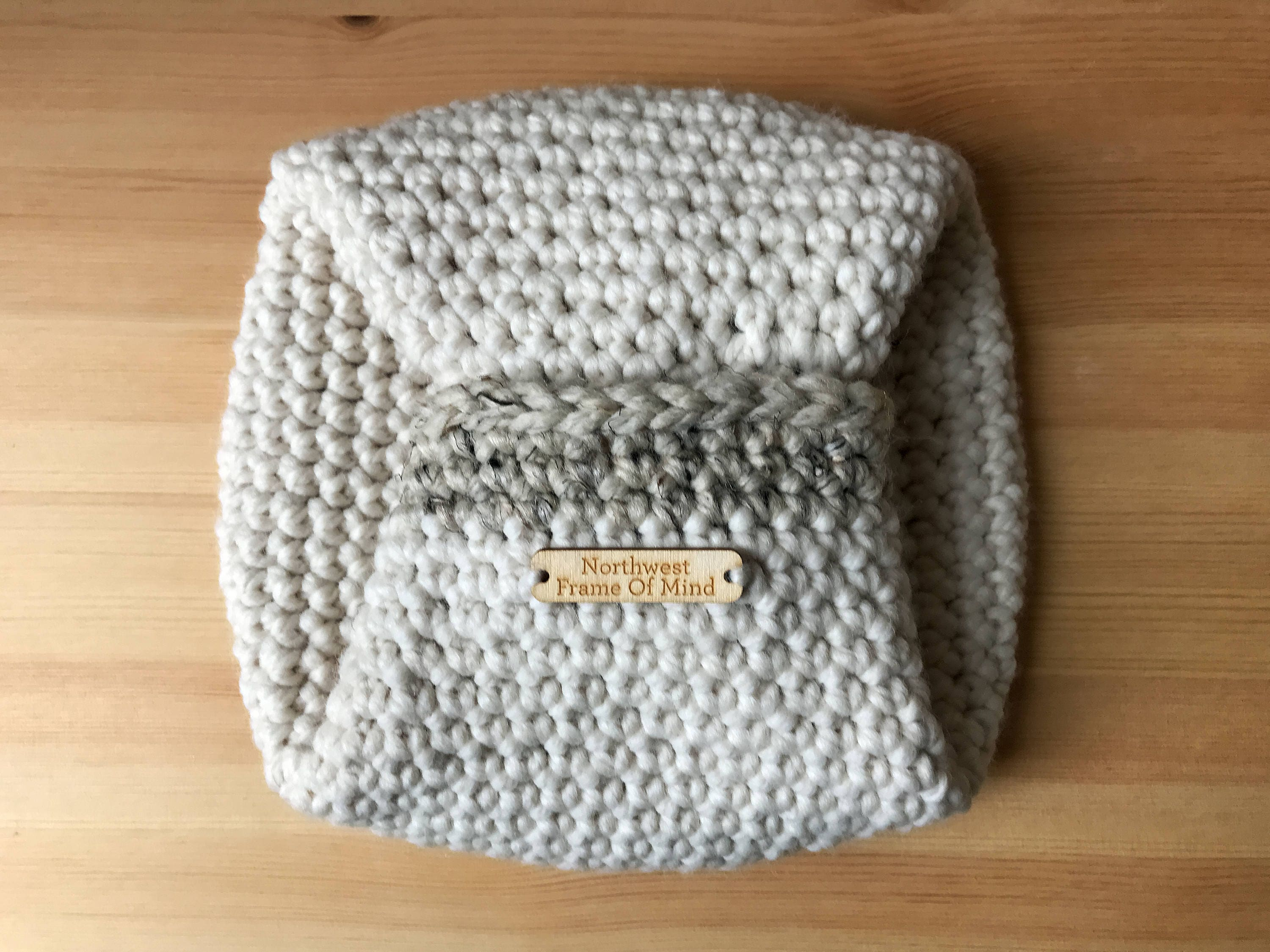 Large Round Crochet Basket With Handles