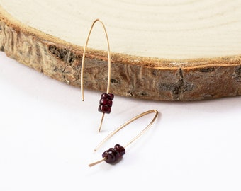 Garnet Threader Earrings