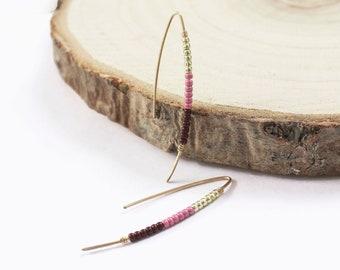 Gold Filled Beaded Threader Earrings