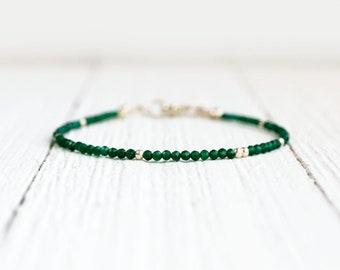 Emerald Bracelet - May Birthstone