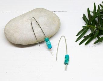 Turquoise Threader Earrings