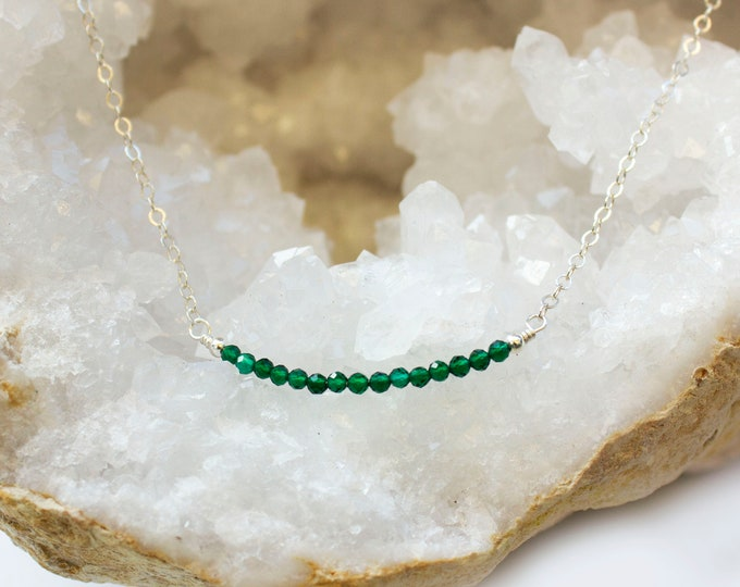 Featured listing image: Emerald Necklace - May Birthstone