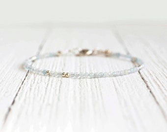 Aquamarine Bracelet - March Birthstone