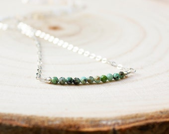 African Turquoise Necklace - December Birthstone
