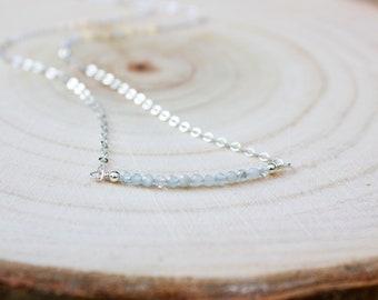 Aquamarine Necklace - March Birthstone