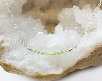Peridot Necklace - August Birthstone