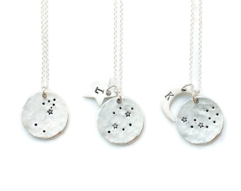 Celestial Jewelry, Constellation Necklace, Zodiac Jewelry, SILVER, Zodiac Necklace,Personalized Necklace,Bridesmaid gift,Zodiac gifts