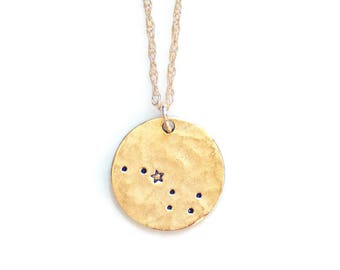 Gold Big Dipper Necklace, Constellation Necklace, Ursa Major,Astronomy,Celestial Jewelry,Gift for her,Astronomy Necklace,Zodias gifts