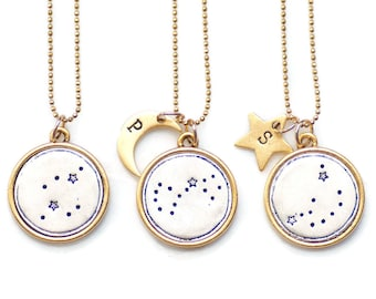 Celestial Necklace, Zodiac Jewelry,Constellation Necklace,Celestial Jewelry,Zodiac Gift,Pisces,Aries,Taurus,Gemini,Cancer, Leo,Virgo,Libra