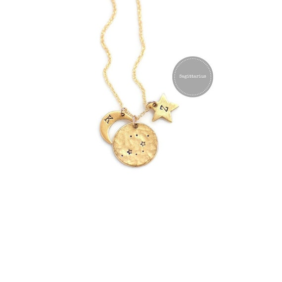 Sagittarius Necklace Gold Birthday Gifts For HerZodiac Sign