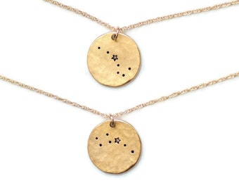 Big and Little Dipper Necklace, Celestial Jewelry,Constellation,Ursa Major,Ursa Minor,Best Friend Necklace,Sister Gift,Big Sister Gift