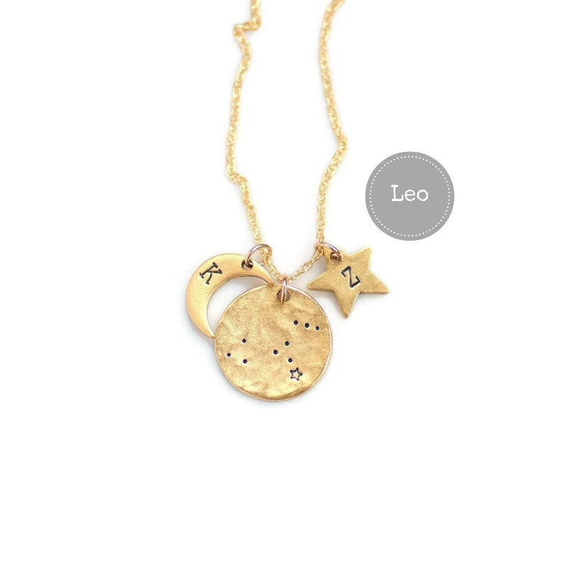 Leo Necklace Gold Birthday Gifts For Her Zodiac Sign