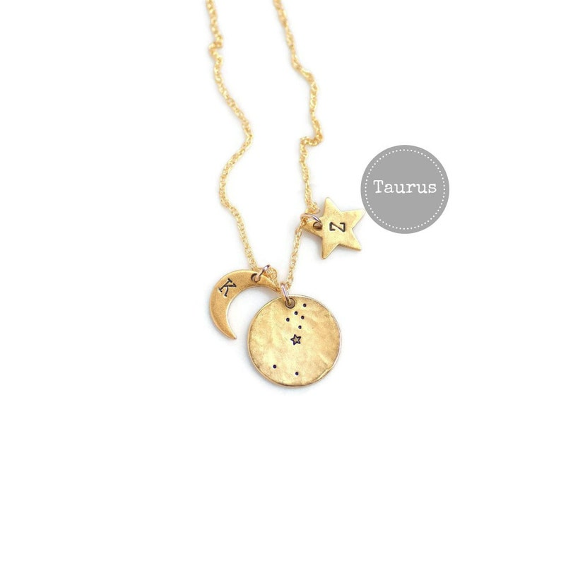 Taurus Necklace Gold Birthday Gifts For Her Zodiac Sign