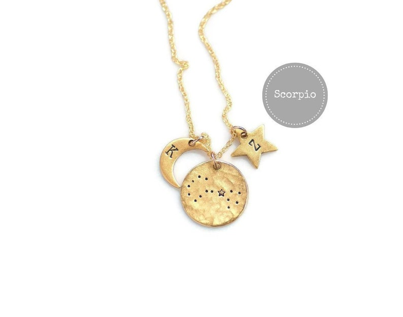Scorpio Necklace Gold Birthday Gifts For Her Zodiac Sign