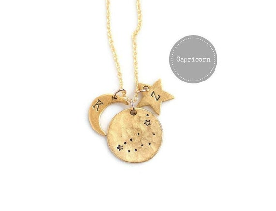 Gold Capricorn Necklace Birthday Gifts For HerZodiac Sign