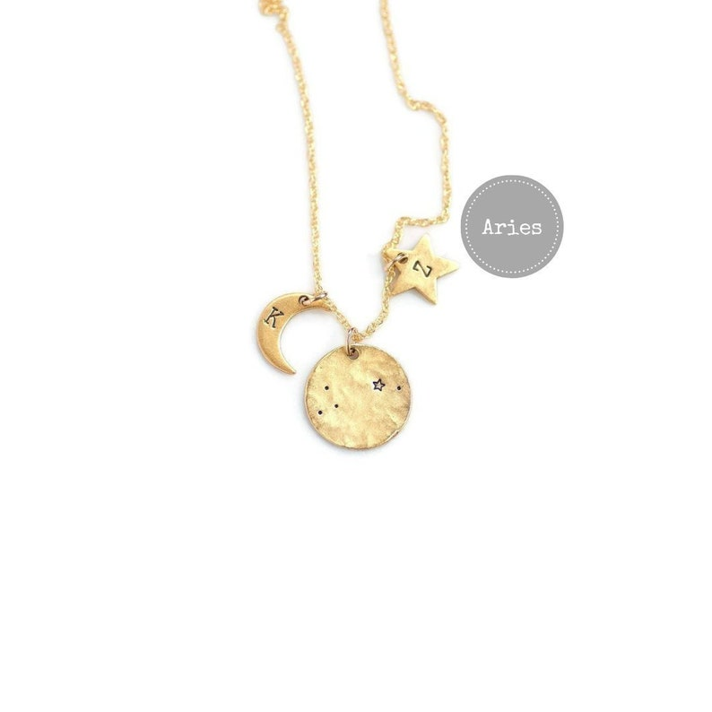 Aries Necklace Gold Birthday Gifts For HerZodiac Sign