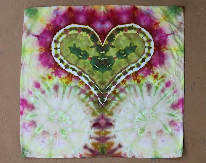Tie Dye Heart Bandana