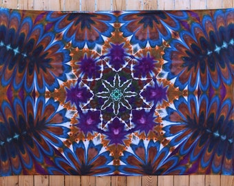 Large Tie Dye Tapestry | Wall Tapestry, Mandala Tapestry, Boho Tapestry, Hand Dyed, Hippie Tapestry, Christmas Gift Idea, Handmade, Unique