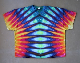 Tie Dye Shirt   4XL Tie Dye Shirt, 4XL Tie Dye, Hand Dyed Shirt, Festival Shirt, Professional Tie Dye, Boho Chic, Rasta, Plus Size Tie Dye