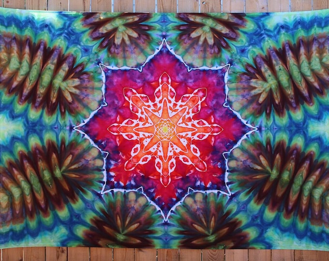 Large Tie Dye Tapestry   Mandala Tapestry