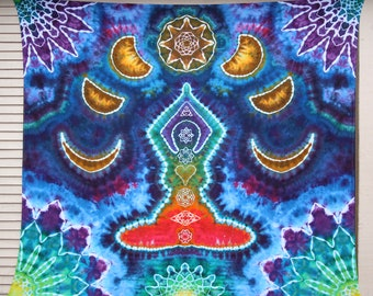 Large Tie Dye Tapestry | Chakra Tapestry