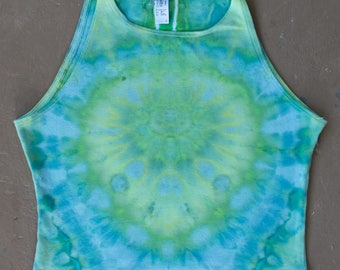 Tie Dye Crop Top | Large Womens tie dye, Festival Wear, Hippie Shirt, Festival Shirt, Boho Chic, Boho Crop Top, Tiedye Top