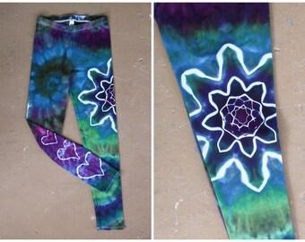 Tie Dye Leggings | Small Leggings, Yoga Leggings, Yoga Pants, Hippie, Festival, Boho Yoga Leggings, Boho Pants, Bohemian, TieDye, Large