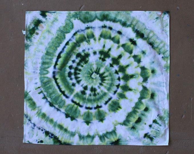Tie Dye Bandana | Bandanna, Outdoor Gear, Scarf, Camping Gear, Handkerchief, Mandala, Small Art, Tiny Tapestry, Festival, Hippie, Hand Dyed