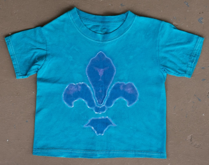 Tie Dye T Shirt | Size 4T, Fleur De Lis, Mardi Gras, New Orleans, Kids Tie Dye, Hippie Kid, Kids Clothes, Gift For Kids, Kids Tie Dye, NOLA